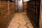Меблі аптеки Міколяша, фото липень 2015 року