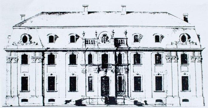 Проект фасаду Палацу Більських. Пр. 1758 р.