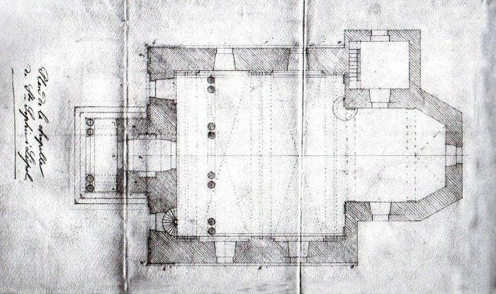 Проект розбудови костелу Св.Софії приблизно 1860 р.