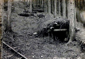 Укріплення російських військ на г. Погар.