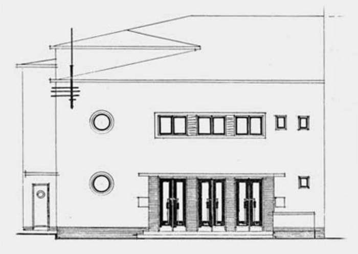 Копія проекту північного фасаду театру, за планами Даніеля Кальмуса, 1938-1939 роки