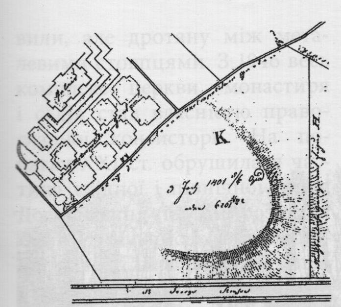 Сад св. Юра на плані Львова, 1828