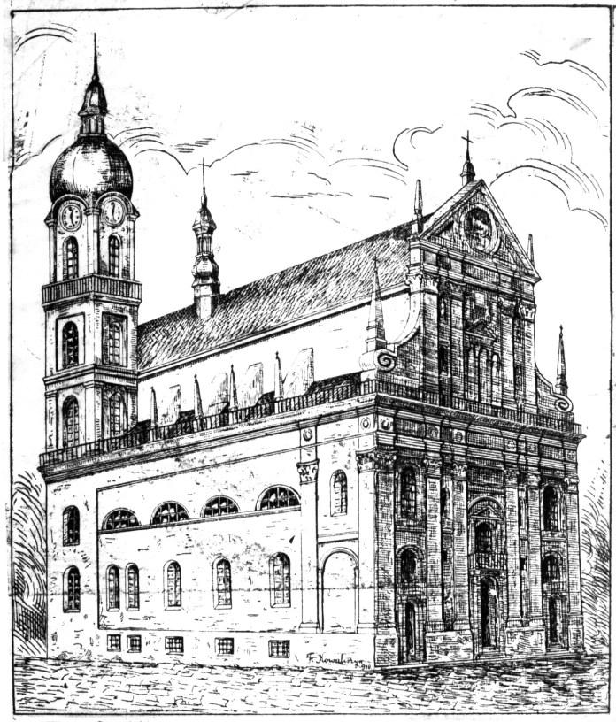 Годинник на вежі Єзуїтського костелу
