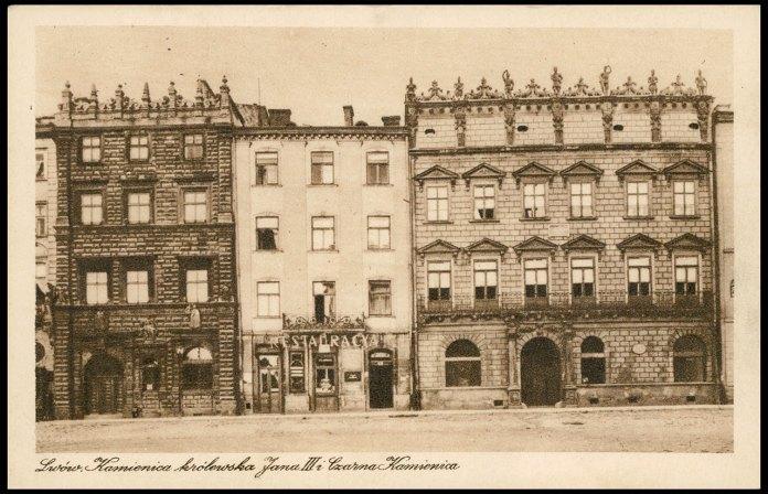 Чорна кам'яниця у Львові на площі Ринок. Фото 1930 року
