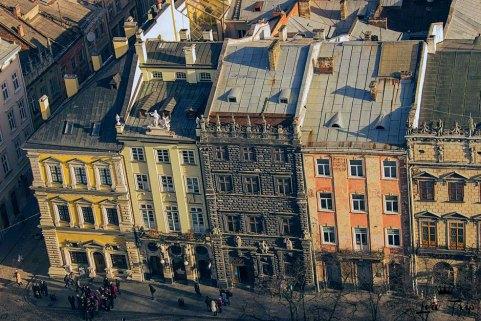 Чорна кам'яниця у Львові на площі Ринок, вигляд зверху (фото з сайту lvivtrip.net )