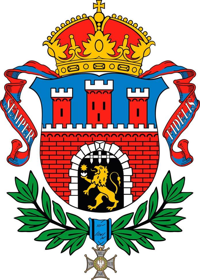 Герб Львова 1930 року.
