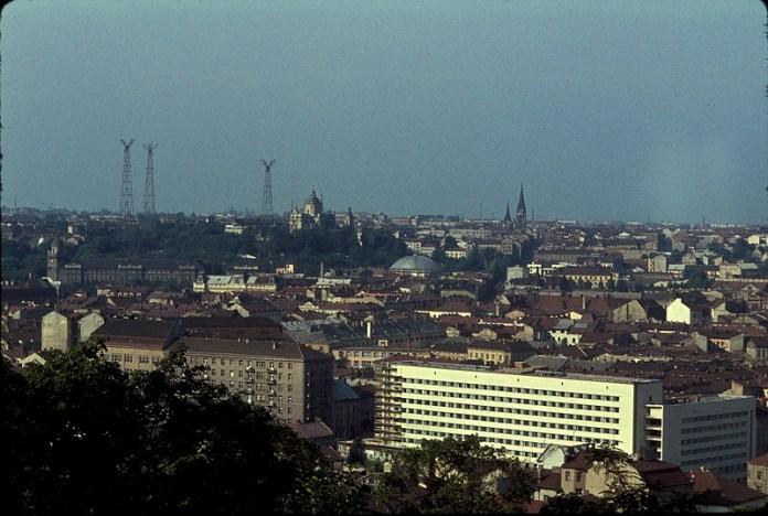 Панорама Львова, фото 1964 року, автор Жак Дюпакьє