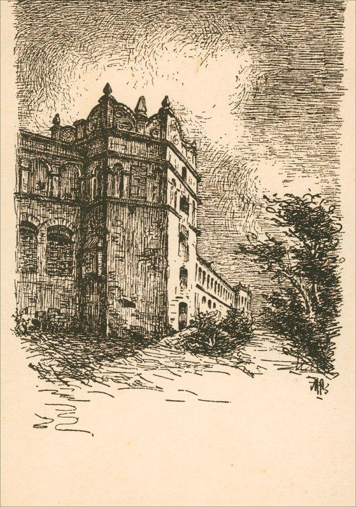 Замок в Старому Селі, зображення 1935 року