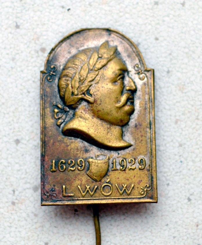 Значок 1929 року, до 300-річчя з дня народження Яна Собеського