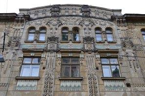 Будинок товариства Дністер. Оздоблення майолікою, фото 2015 року.