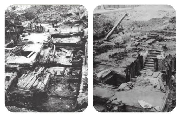 """Розкопки на місці готелю """"Золотий лев"""", де у 1992 році було знайдено монетний скарб. Площа Ринок, 2"""