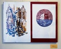 Експозиція виставки «Графіка. Поступ молодих-5»