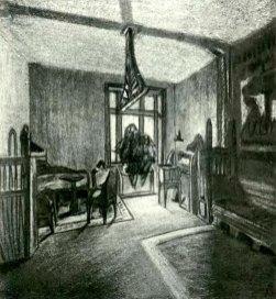 """Проект готельного номеру готелю """"Краківський"""" у Львові В. Гжимальського, 1913 pік"""