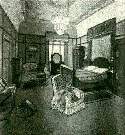 """Проект готельного номеру готелю """"Краківський"""" у Львові М. Осінського, 1913 pік"""