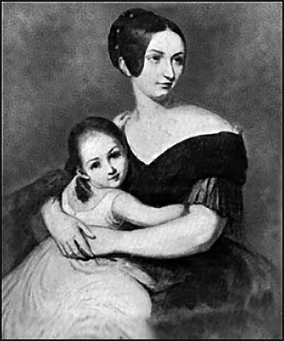 Кароліна Вітгенштейн (кохана Ференца Ліста) з донькою Марією