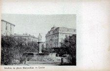 Марійська площа у Львові, вигляд до 1904 року (листівка 1906 року)