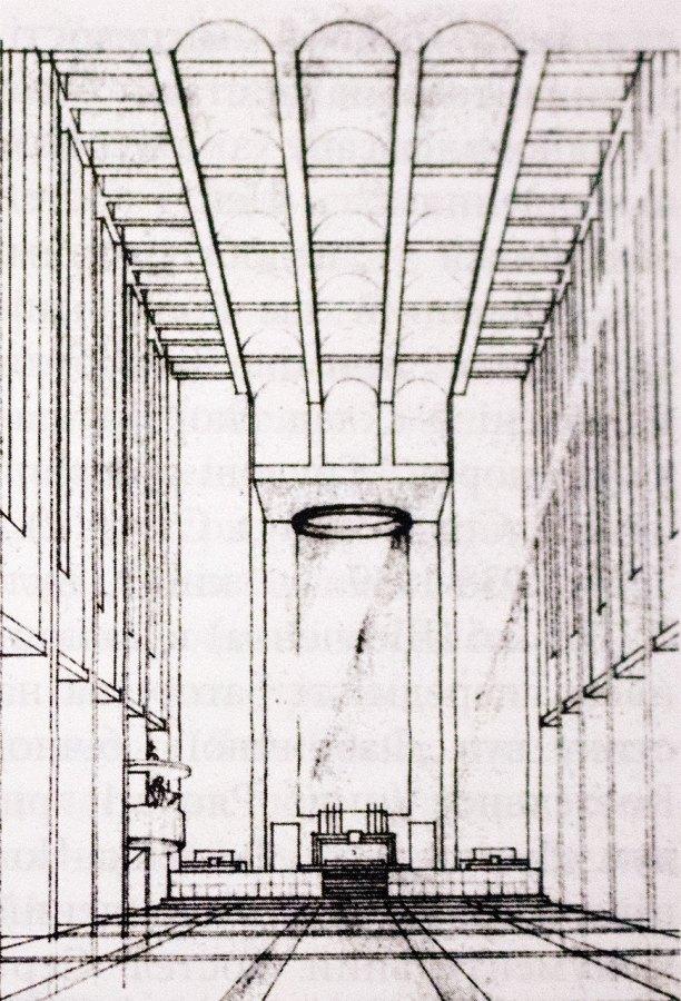 Проект інтер'єра костелу Св. Вінсента де Поля, 1938 рік