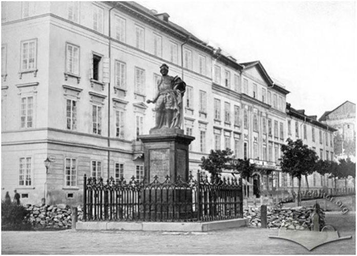 Пам'ятник гетьману Станіславу Яблоновському, фото 1860-1870 рр., автор Юзеф Едер