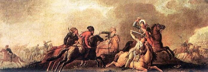 Зображення батальної сцени за участь повстанців під проводом Т. Костюшка