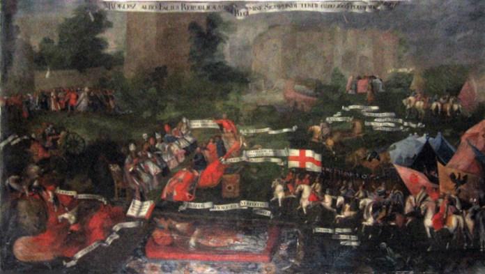 """""""Сандомирський рокош"""" (бунт шляхти, повстання проти короля), картина XVII століття"""