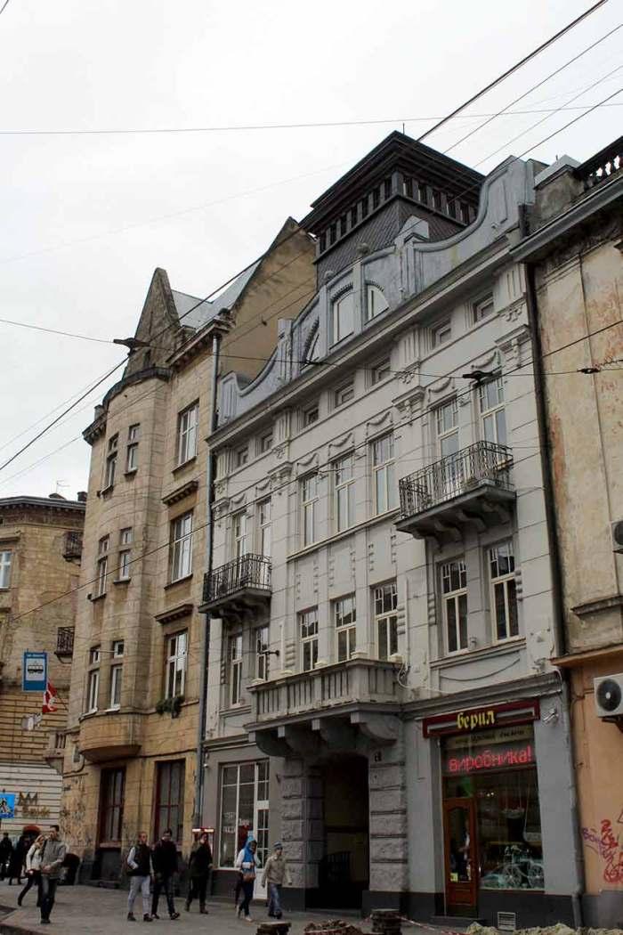 Сучасна вулиця Івана Франка у Львові (колишня вул. Панська). Будинок №7