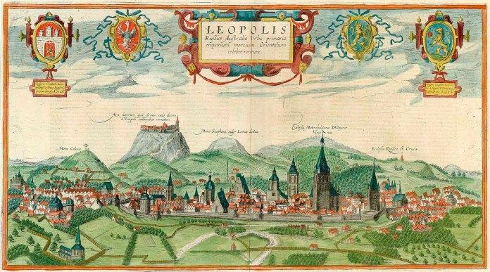 Панорама Львова Абрагама Гоґенберґа/Ауреліо Пассаротті, 1617-1618