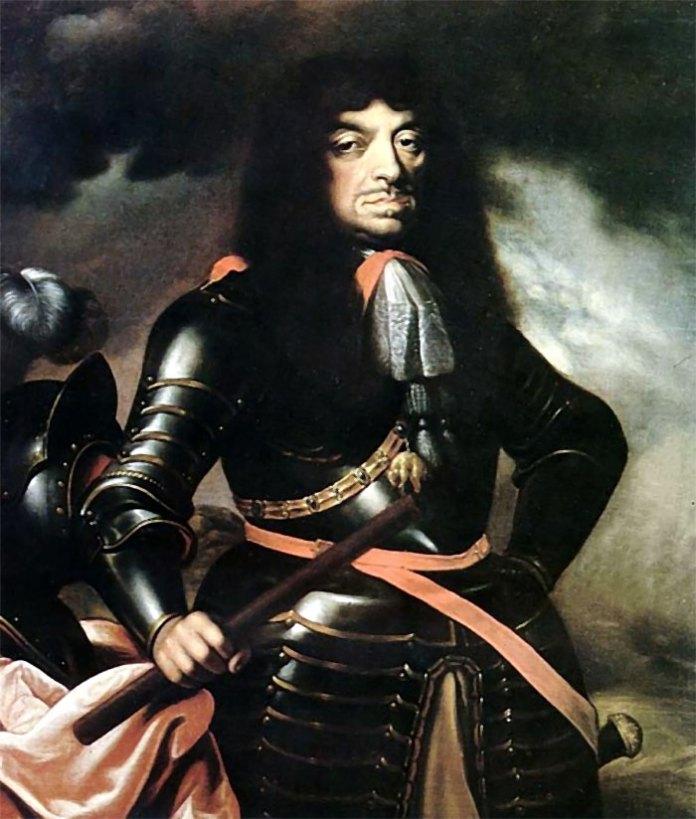 Ян ІІ Казимир Ваза, король Речі Посполитої в 1648-1668 роках. Відновив карбування монет у Львові в 1656-1657 та 1660-1663 роках.