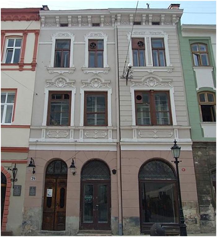 Кам'яниця Толочківська після перебудови в 1895-1896 роках. Сучасна адреса кам'яниці - Площа Ринок, 39.