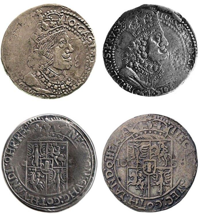Орти карбовані на Львівському монетному дворі в 1656-1657 роках.