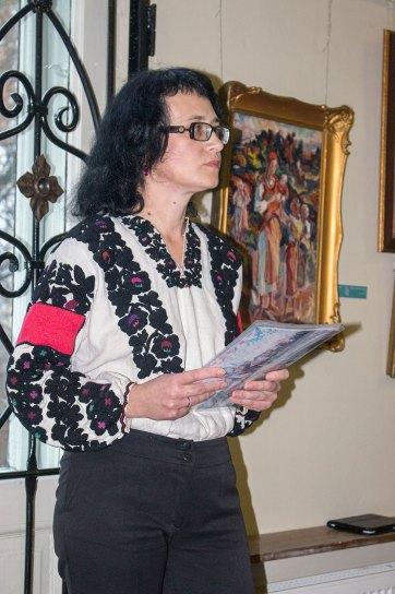 Ірина Різун на вечорі пам'яті Олекси Новаківського