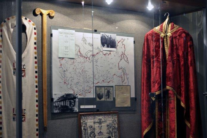 Посох і речі Йосипа Сліпого в експозиції львівського музею історії релігії. Фото Ярини Федьків
