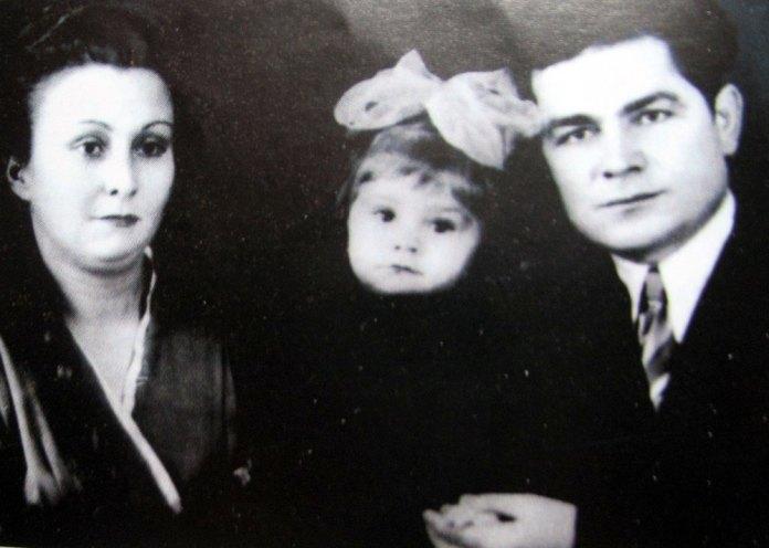 Василь Макух з дружиною Лідою та дочкою Ольгою (1962 р.)