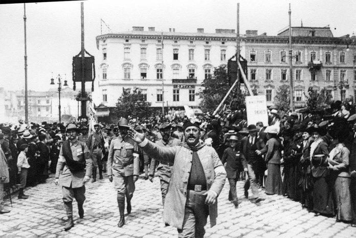 Парад-зібрання «Сокола» у Львові 1914р