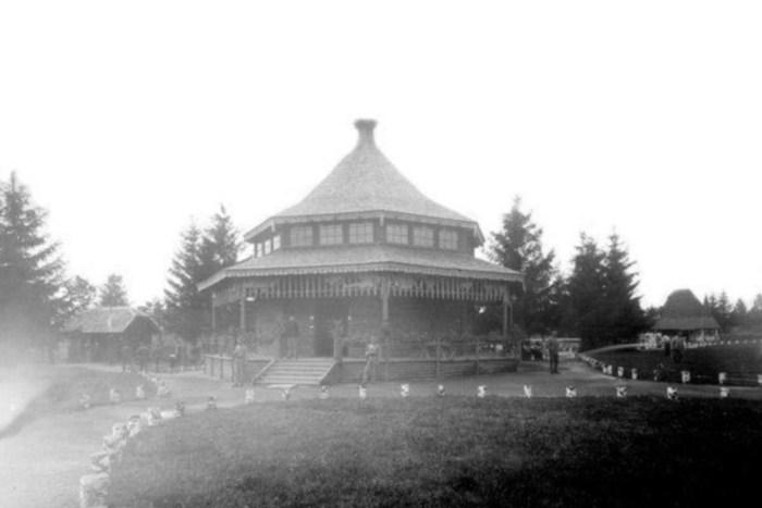Сільськогосподарський павільйон на Військовій виставці у Стрийському парку. Фото 1916-1918 рр.