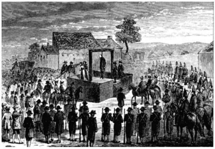 Зображення публічної страти. Гравюра XVIII століття