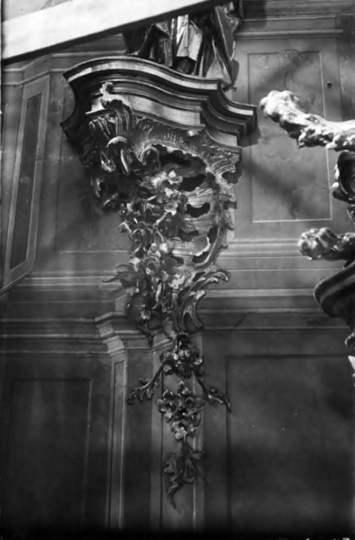 Фрагмент головного вівтаря Костелу Усіх Святих у Годовиці, фото до 1931 року