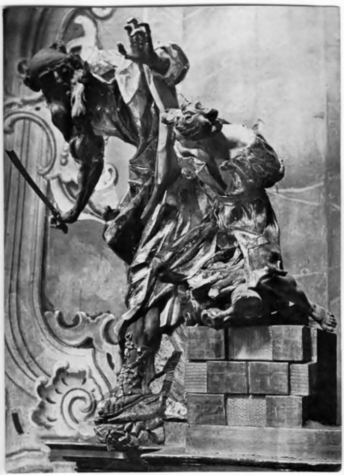 """Й.Г. Пінзель """"Жертвоприношення авраама"""", фото до 1931 року"""