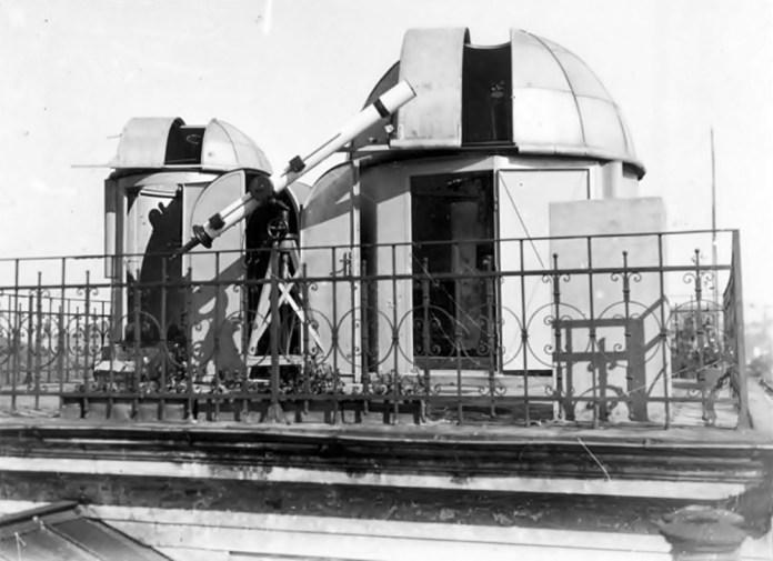 Майданчик для спостережень на даху обсерваторії на вул. Кирила і Мефодія