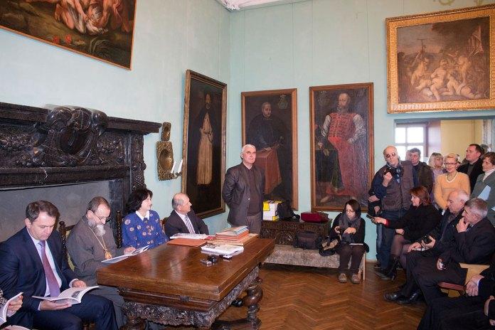 Заступник директора Львівської національної галереї мистецтв з наукової роботи Володимир Пшик під час відзначення 40-річчя музею-заповідника «Олеський замок».