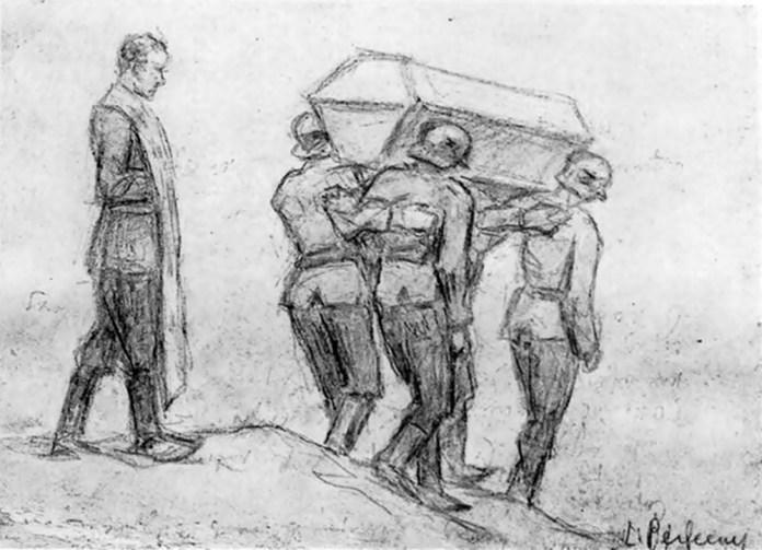 Л. Перфецький. «Похорон вояка». Фото з сайту milua.org