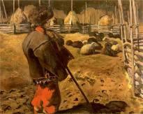 Казимир Сіхульський. Пастух (гуцул з вівцями), 1906 рік