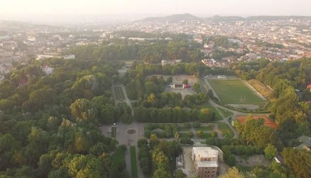 Парк культури. Вигляд зверху. Сучасне фото