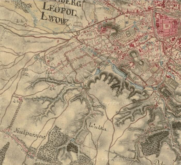План міста Львова 1783 року, на якому вперше позначено Кульпарків