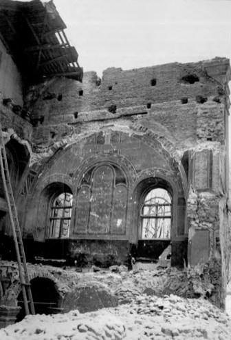 Зруйнована церква Святого Духа на вул. Коперніка. Фото 1939-1941 рр.
