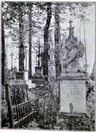 Гробівець Вітольда Малаховського на Городоцькому кладовищі у Львові. Фото 1908