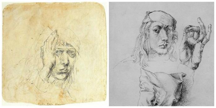 Альбрехт Дюрер. Автопортрет 1492 року і Автопортрет 1493 року. (Львівська колекція)