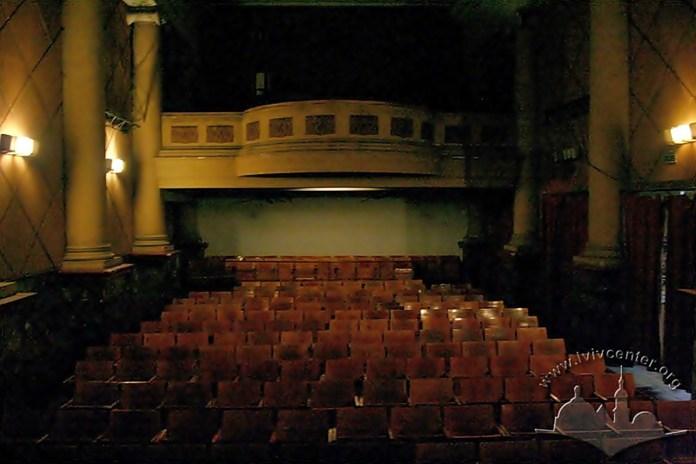 Інтер'єр кінозалу збережений у первісному вигляді від часу його заснування.