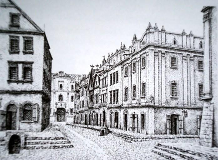 Вулиця Шевська у XVII ст. Реконструкція І. та Л. Качорів