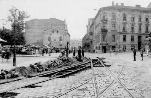 Стрийський ринок на межі вул. Шота Руставелі та Стрийської. Фото 1928-1929 рр.