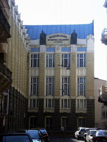 Національна музична академія ім. Миколи Лисенка, в приміщенні якої було польське Краєзнавче товариство